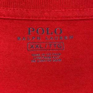 Polo by Ralph Lauren Shirts - Polo Ralph Lauren Red Short Sleeve Tee - XXL